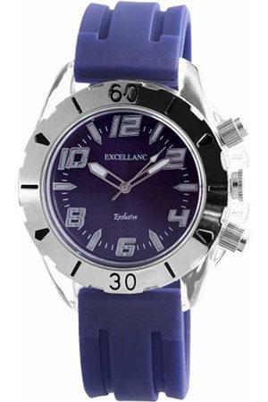 Excellanc Men's Quartz Watch LED Collection 225723000005 with Rubber Strap