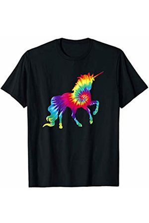Unicorn Retro Hippie Apparel Unicorn Tie Dye Pattern Retro Hippie 60's 70's Groovy T-Shirt