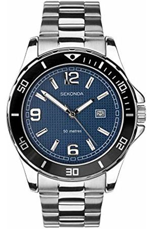 Sekonda Watches Mens Analogue Classic Quartz Watch with Stainless Steel Strap 1512.27