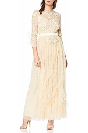 Frock and Frill Women's Genette Lace Long Sleeve Maxi Party Dress