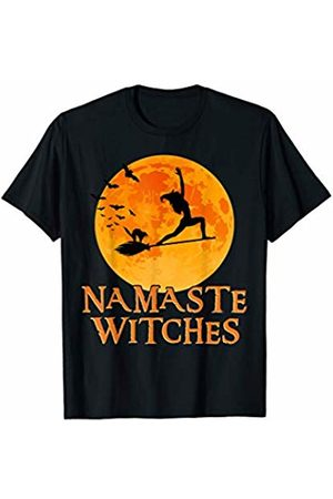 Zum2 Namaste Halloween Yoga Namaste Witches Shirt Warrior Pose I Halloween Yoga T-shirt T-Shirt
