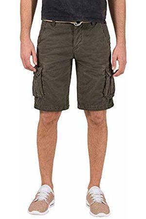 Timezone Men's Loose Maguiretz Cargo Shorts Incl. Belt (Washed Oliv 4064)