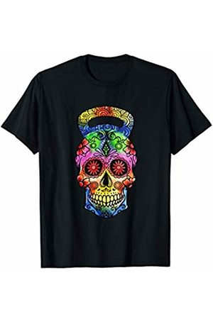 Kettlebell Skull Shirts Kettlebell Sugar Skull Weight Lifting Exercise Workout T-Shirt