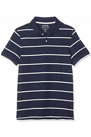 Izod Men's Performance Pique Stripe Polo Shirt