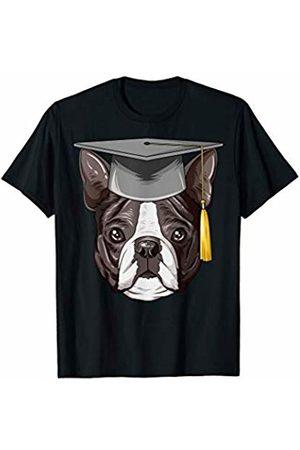 Boston Terrier World Boston Terrier Graduation Graduate Hat Boston Terrier T-Shirt