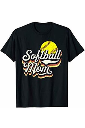 Tropique Softball Gift Apparel Softball Retro Sports Mom Gift T-Shirt