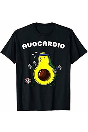 Funny Avocado Vegan Food Shirts Avocardio Avocado Vegan Cardio Funny Vegetarian Workout Joke T-Shirt