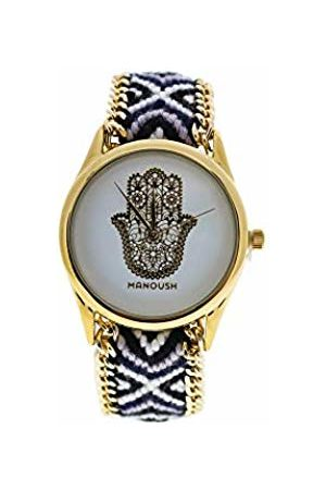 Manoush Unisex-Adult Analogue Classic Quartz Watch with Stainless Steel Strap MSHHIWH