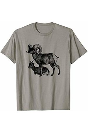 The New Antique Majestic Bighorn Sheep Print T-Shirt