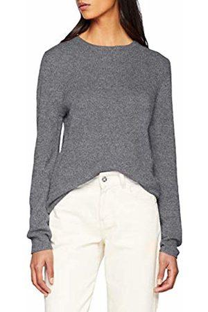 SPARKZ COPENHAGEN Women's Pure Cashmere O-Neck Pullover Jumper, Dark Melange 123