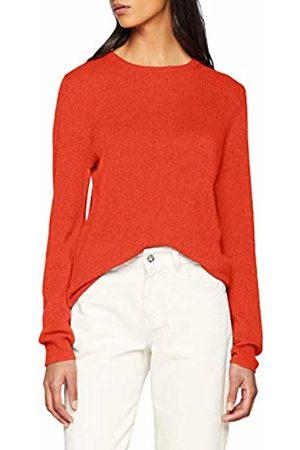 SPARKZ COPENHAGEN Women's Pure Cashmere O-Neck Pullover Jumper, Sunset 545