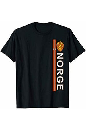 Norway National Pride Designs Norwegian Language Sports-style Flag and Emblem Norge T-Shirt