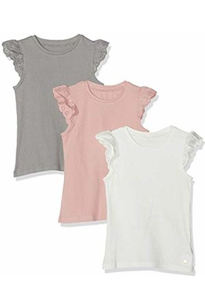 Mothercare Girl's 3Pk Rib Cream/Charc/Pink Tee T - Shirt