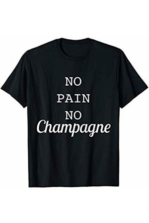 Funny Workout Gym Shirt T-shirts - No Pain No Champagne Funny Gym Fitness Workout T-Shirt