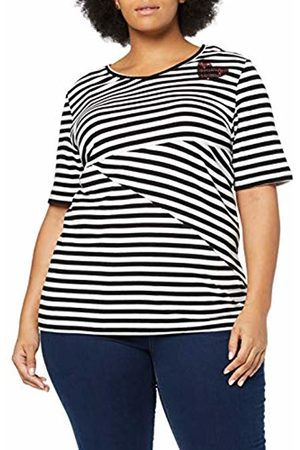 Ulla Popken Women's Streifenshirt Mit Paillettenherz, Regular, Große Größen T-Shirt