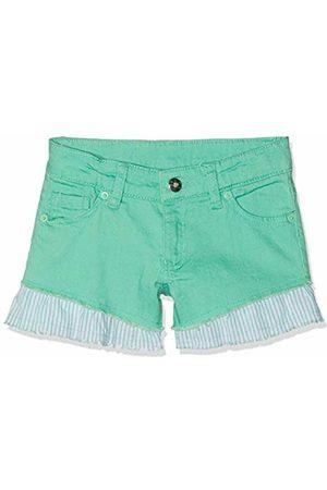 Brums Girl's Shorts Denim Color Elasticizzato Con Voulant