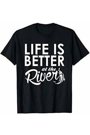 River Apparel River Fishing Shirts River Rafting Life Is Better At The River T Shirt River Rafting Floating T-Shirt