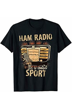 Ham Radio Operator Gifts Mens Its A Contact Sport Funny Quote Ham Radio T-Shirt
