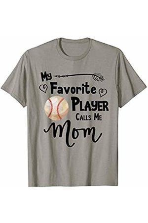 Baseball Softball Sports Fan Designs Co. Baseball Softball My Favorite Player Calls Me Mom Sports T-Shirt