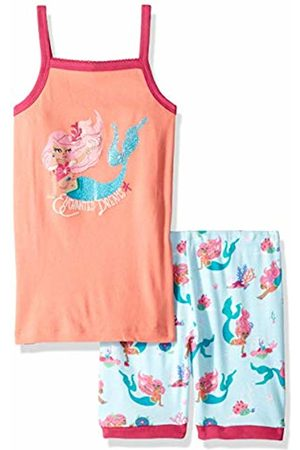 Hatley Girl's Organic Cotton Sleeveless Pyjama Sets, Pink (Mermaid Tales)