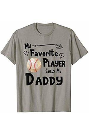 Baseball Softball Sports Fan Designs Co. Baseball Softball My Favorite Player Calls Me Daddy Sports T-Shirt