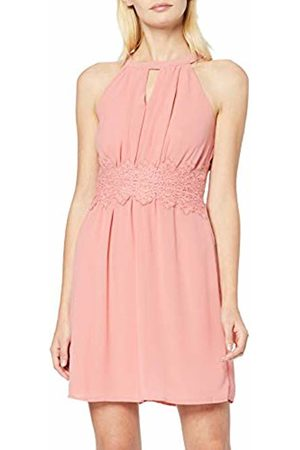 Vila Women's Vimilina Halterneck Dress Brandied Apricot