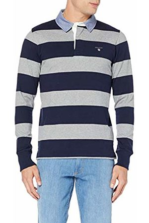 GANT Men's The The Original Barstripe Heavy Rugger Polo Shirt, ( Melange 93)
