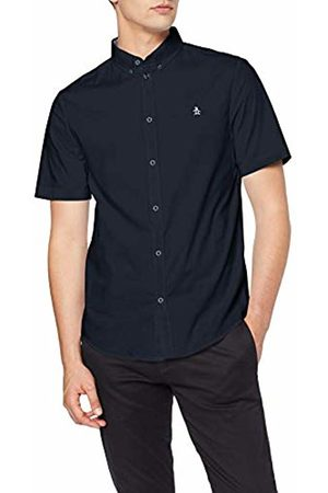 Original Penguin Men's Poplin Casual Shirt, (Dark Sapphire)