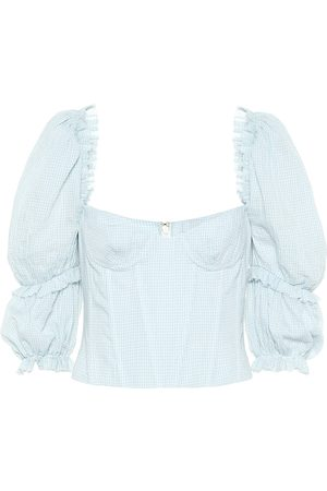 BROCK COLLECTION Exclusive to Mytheresa – Oceanic gingham cotton top