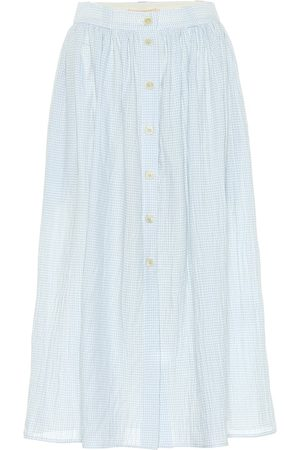 BROCK COLLECTION Exclusive to Mytheresa – Olivo gingham cotton midi skirt