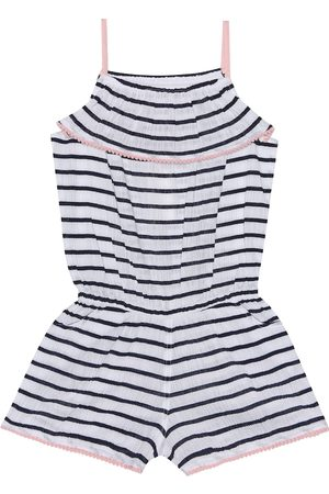 Heidi Klein Striped cotton playsuit