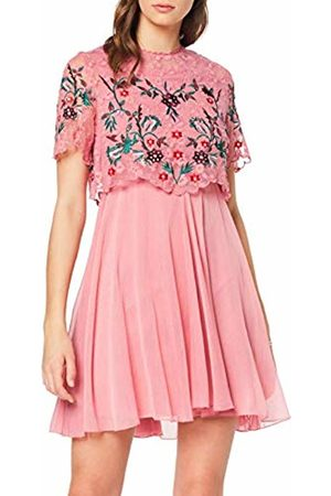 Frock and Frill Women's Freda Embellished Skater Dress Party ( #Ffb6c4)