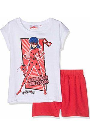 MIRACULOUS Girl's 6090 Pyjama Set, Blanc