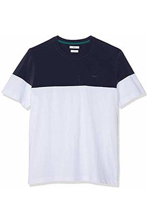 Brax Men's Terry Rundhals Shirt Blockstreifen T