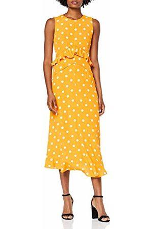 warehouse Women's Spot Print Frill Dress