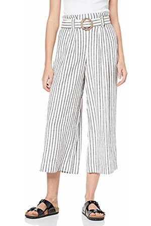 New Look Women's Mark Stripe Linen Trousers