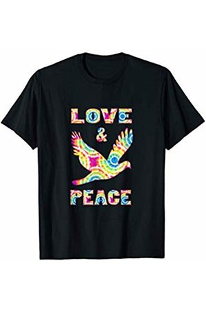 Love And Peace Dove Hippie Tie Dye Style Love Peace Symbol T-Shirt