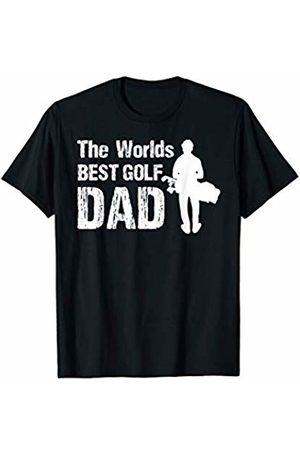 Worlds Best Golf Dad T Shirt Fun Fathers Day Gift For Golf Dad Men's Sports Or Birthday T-Shirt