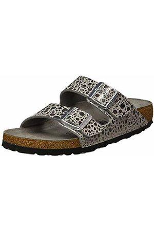 Birkenstock Arizona, Women's Open Toe Sandals Open Toe Sandals, Argenté (Metallic Stones Gray Metallic Stones Gray), 39 EU