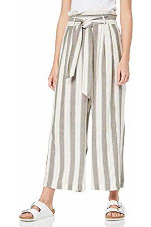 Miss Selfridge Women's Khaki Stripe Linen Paperbag Trousers 070