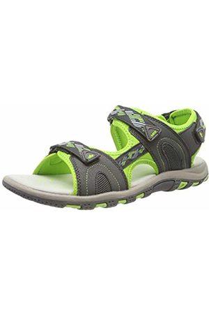 LICO Unisex Adults' Luca V Ankle Strap Sandals, Grau/Grün
