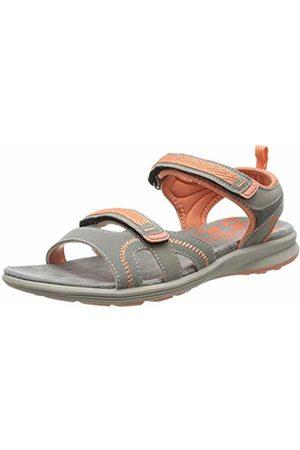 LICO Women's Samar V Ankle Strap Sandals, Grau/Lachs