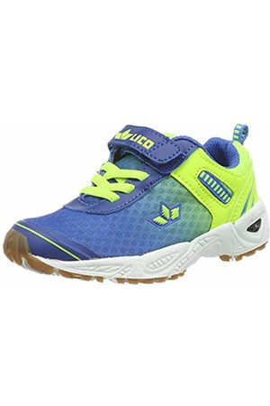 LICO Shoes - Unisex Kids' Barney VS Multisport Indoor Shoes, Blau/Lemon