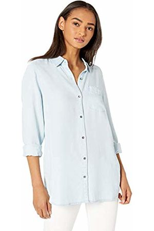 Daily Ritual Tencel Long-Sleeve Button-Up Shirt Bleach Wash