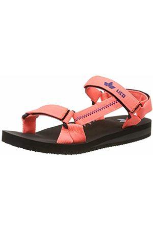 LICO Women's Karibik V T-Bar Sandals, Lachs/Blau