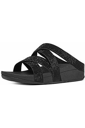 FitFlop Women's Slinky Rokkit Criss-Cross Slide Open-Toe Sandals
