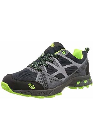 Bruetting Men's Canton Low Rise Hiking Shoes, Schwarz/Grau/Lemon