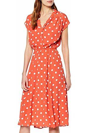 warehouse Women's Coral Spot Shirt Midi Dress, 56
