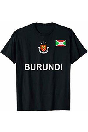 Burundi National Pride Designs Burundi Sports-style Flag and Emblem Design T-Shirt
