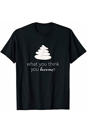 Official Get Hopped Apparel What You Think You Become Mindfulness Meditation Cute Yoga T-Shirt